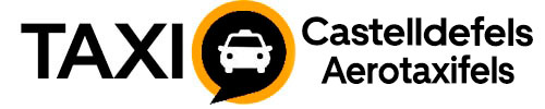 Logo-Taxi-Castelldefels-negro fondo blanco